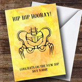 Customised Funny Hip Hip Hooray Get Well Soon Card