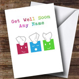 Customised Tissue Boxes Get Well Soon Card