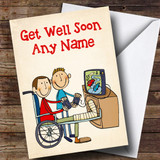 Customised Broken Leg Get Well Soon Card