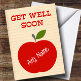 Customised Apple Get Well Soon Card