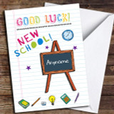 Class Room Blackboard Customised Good Luck Card