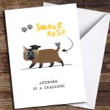 Funny Cat Smart Arse Customised Graduation Card