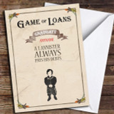 Funny Game Of Loans Customised Graduation Card