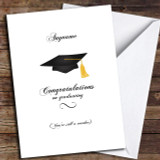 Funny Hat Wanker Customised Graduation Card