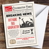 Newspaper Celebration Times Customised Graduation Card