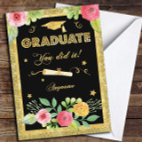 Sparkle Celebrate Customised Graduation Card