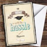 Tassle Hassle Vintage Customised Graduation Card