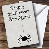 Spider Customised Halloween Card