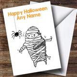 Scary Mummy Customised Halloween Card