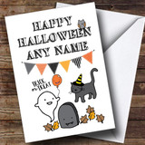 Scary Ghost Customised Halloween Card