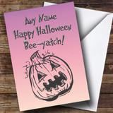 Pumpkin Customised Halloween Card