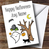Ghostly Characters Customised Halloween Card