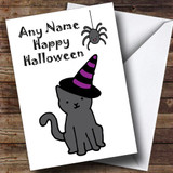 Witch Cat Customised Halloween Card