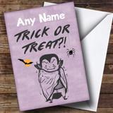 Trick Or Treat Customised Halloween Card