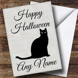 Black Cat Customised Halloween Card