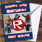 Roblox Logo Customised Birthday Card