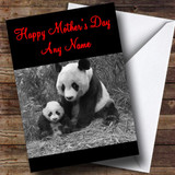 Panda & Baby Customised Mother's Day Card