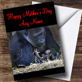 Gorilla & Baby Customised Mother's Day Card