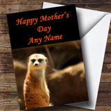 Cute Meer Kat Customised Mother's Day Card