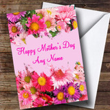 Spray Of Flowers Customised Mother's Day Card