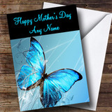 Blue Butterfly Customised Mother's Day Card