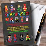 Skyline Superhero Children's Birthday Party Invitations