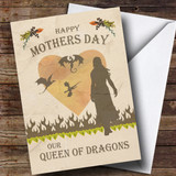 Customised Game Of Thrones Real Queen Of Dragons Mothers Day Card