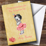 Adoption Vintage Congratulations Adopting A Girl Daughter Customised Card