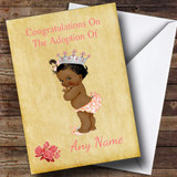 Adoption Congratulations Adopting A Girl Daughter Black Customised Card