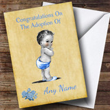 Adoption Vintage Congratulations Adopting A Boy Son Customised Card