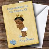 Adoption Vintage Congratulations Adopting A Boy Son Black Customised Card