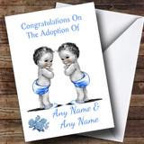 Adoption Congratulations Adopting Twin Boys Customised Card