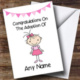 Adoption Congratulations Adopting An Older Girl Daughter Customised Card