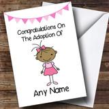Adoption Adopting An Older Girl Daughter Brown Skinned Customised Card