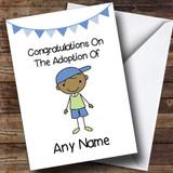 Adoption Adopting An Older Boy Son Brown Skinned Customised Card