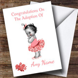 Adoption Congratulations Adopting A Girl Daughter Customised Card