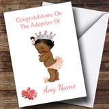 Cute Adoption Congratulations Adopting A Girl Daughter Black Customised Card