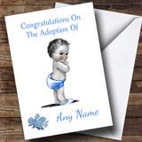 Adoption Congratulations Adopting A Boy Son Customised Card