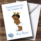 Adoption Congratulations Adopting A Boy Son Black Customised Card