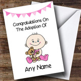 Adoption Congratulations Adopting A Baby Girl Daughter Customised Card