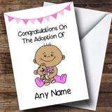 Adoption Adopting A Baby Girl Daughter Brown Skinned Customised Card