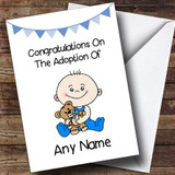 Adoption Congratulations Adopting A Baby Boy Son Customised Card