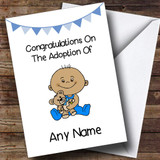 Adoption Congratulations Adopting A Baby Boy Son Brown Skinned Customised Card