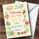 Customised Welcome Your Baby Classic Baby Shower Card