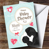 Customised Vintage Teal Mum To Be Baby Shower Card