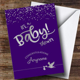 Customised Sparkly Its A Baby Baby Shower Card