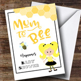 Customised Mum To Be Blond Baby Shower Card