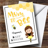 Customised Mum To Be Brown Baby Shower Card