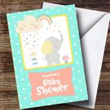Customised Spotty Elephant Baby Shower Card