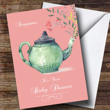 Customised Afternoon Tea Baby Shower Card